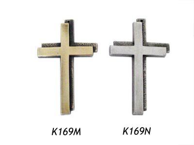 Modern kruis in Messing en Nikkel