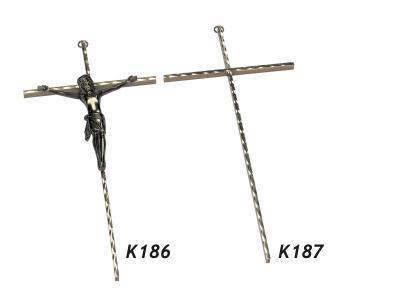 Kruisje volmessing 30 cm